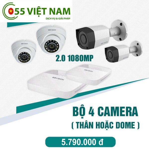 Tron bo 4 camera Hikvision